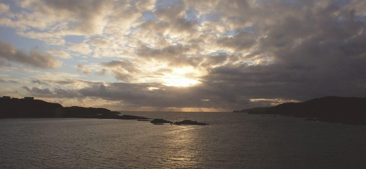 Versteckt in den Highlands - Sonnenuntergang