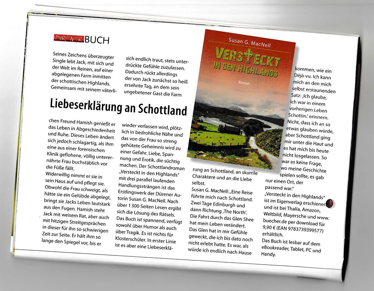 Versteckt in den Highlands: Pressebericht Dürener magazin